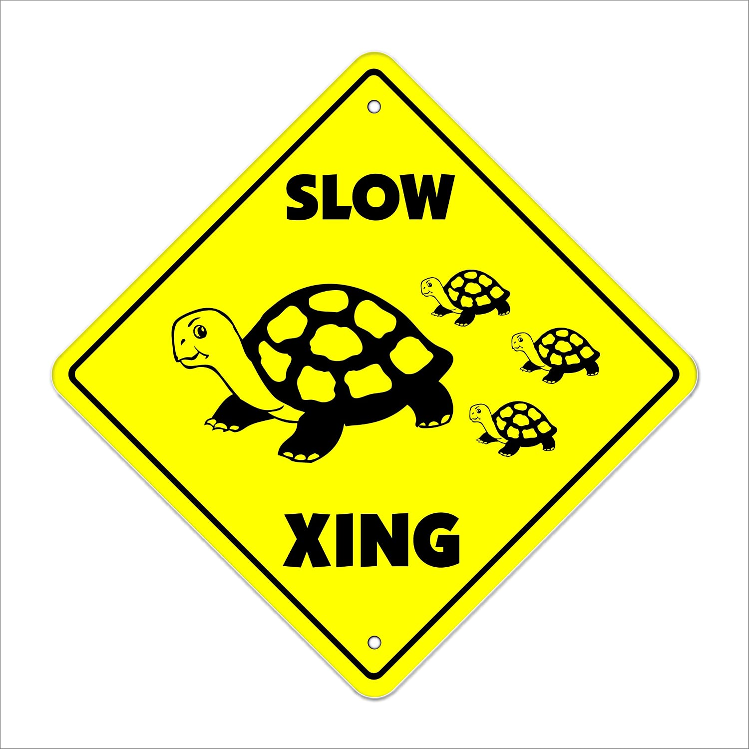 Slow Turtle Crossing >> Amazon Com Slow Turtle Crossing Sign Zone Xing Indoor Outdoor