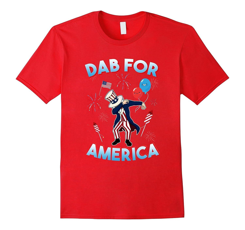 4th of july shirt Funny Uncle Sam Dabbing For America TShirt-PL