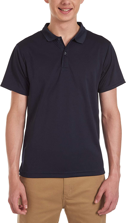 CHAPS Mens Uniform Short Sleeve Performance Polo Polo Shirt