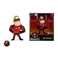"""Metalfigs Jada Toys Disney Pixar Incredibles 2 Movie- Mr. Incredible Toy Figure, 4"""", Red"""