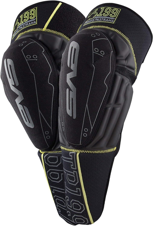 Tp199 Knee Guards Black//Hi-Vis Evs Sports TP199K-BK-L//XL Large//X-Large
