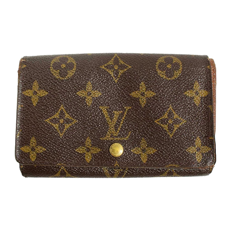 (ルイヴィトン) LOUIS VUITTON 財布 二つ折り モノグラム ポルトモネビエトレゾール ブラウン M61730 B07DM9ZLD1  -