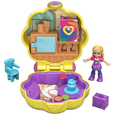 Polly Pocket Awesome Art Studio: Toys & Games