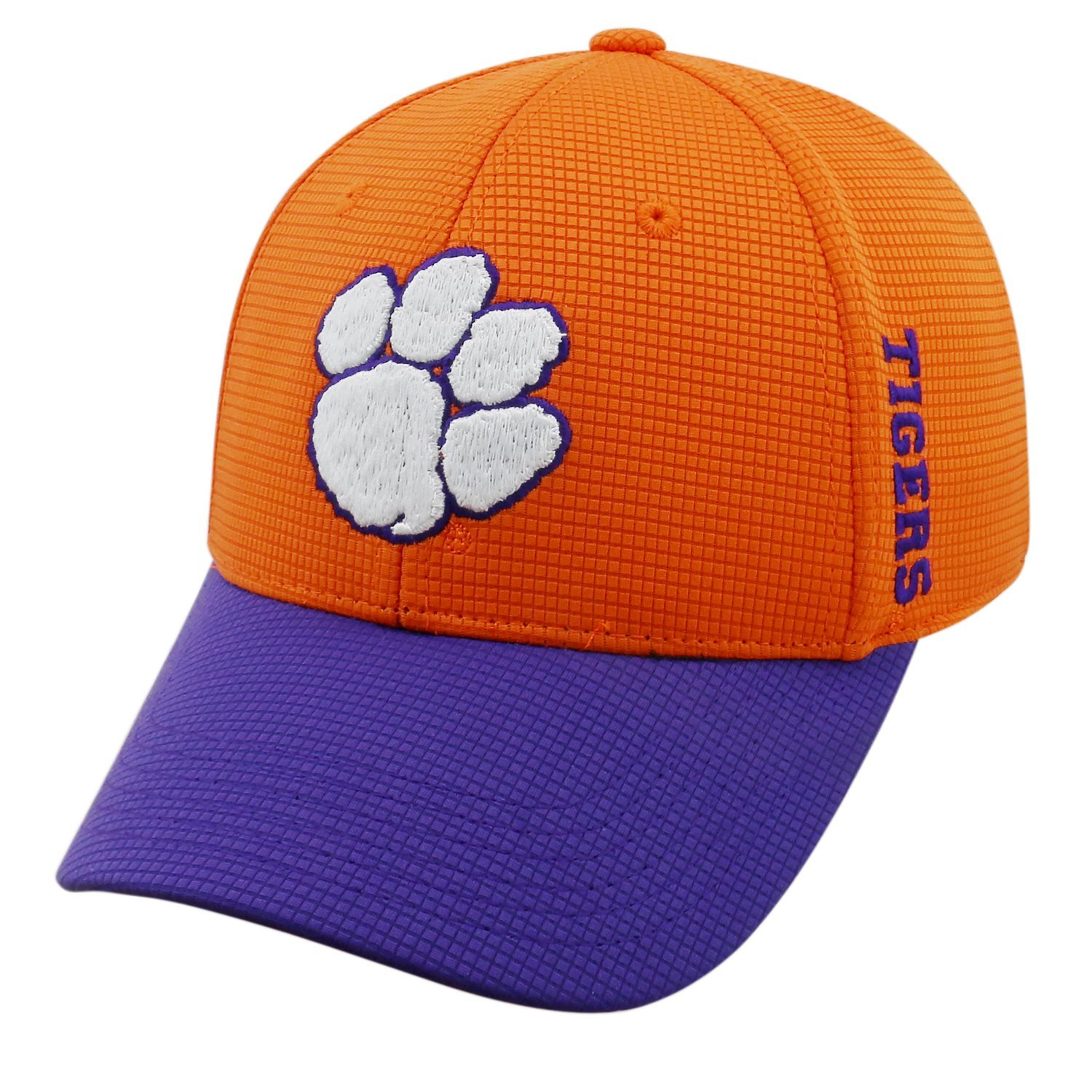 check out e363a 59921 Amazon.com   Clemson Tigers 2 Tone Booster Plus Flex Fit Hat Cap Sizes 7-7  7 8   Sports   Outdoors