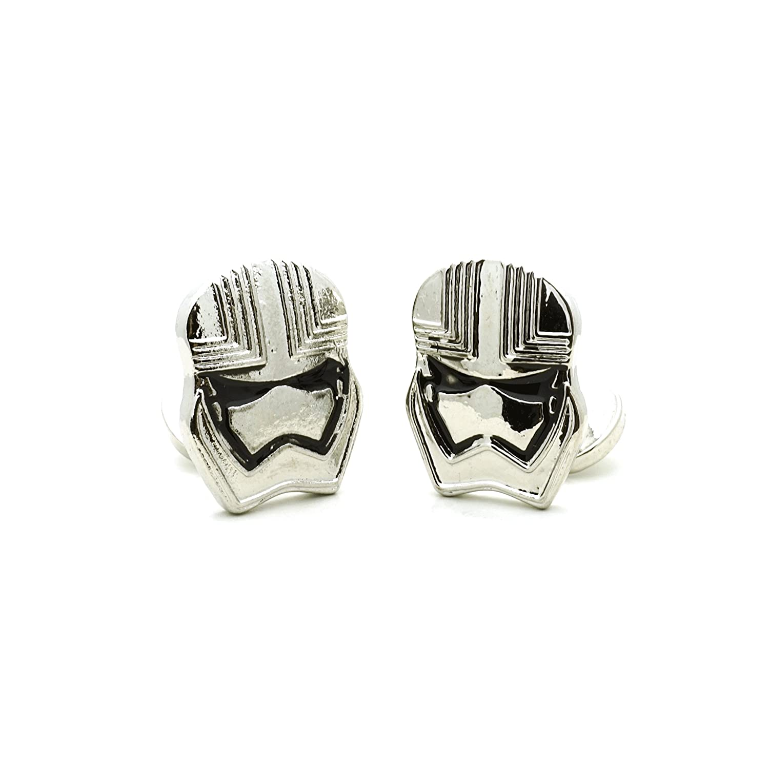Teri's Boutique Star Wars Stormtrooper Mask Men Shirt Fashion Silver Tone Cufflinks