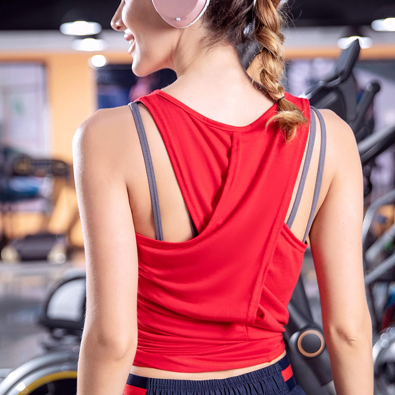 Yaluntalun Women/'s Backless Workout Yoga Shirts Activewear Racerback Tank Top Sleeveless Sports Gym Tunic Blouse