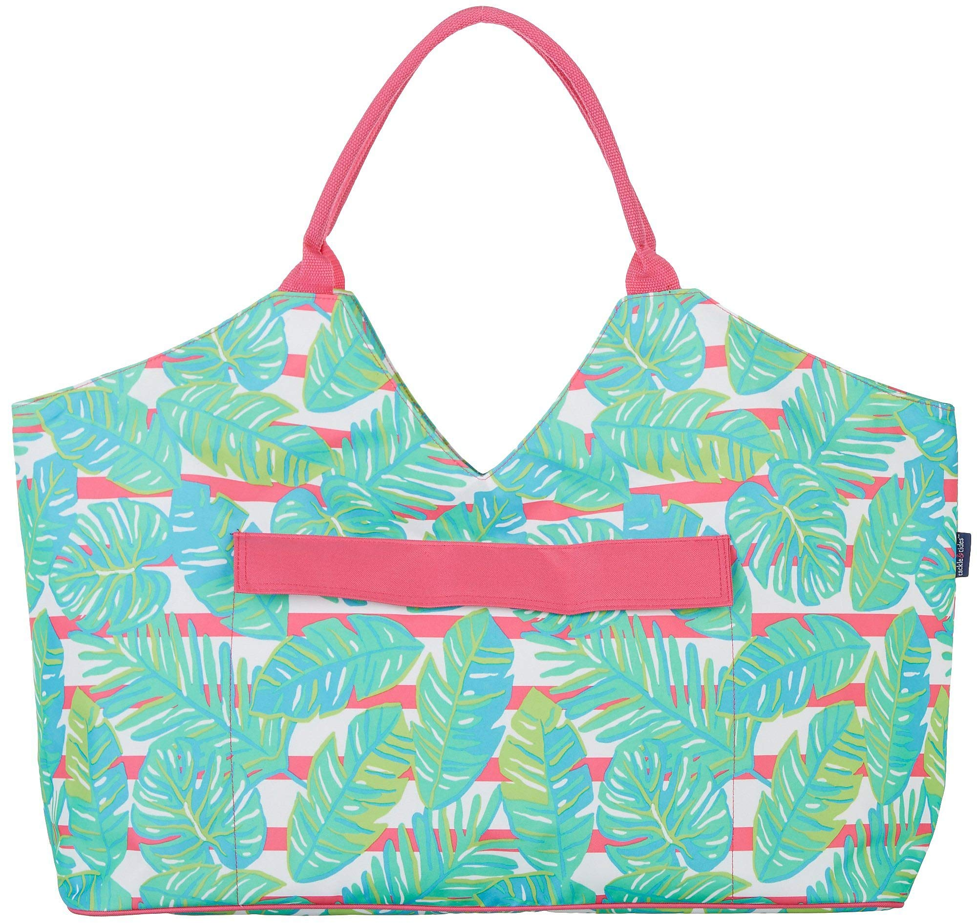 Tackle & Tides Palm Leaves Ultimate Bag One Size Green/Pink/White