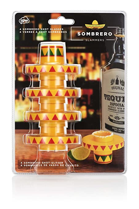 Image Unavailable. Image not available for. Color  NPW NP31775 USA 4-Count Sombrero  Slammer Stacking Shot Glasses ... a19c9db7dc92