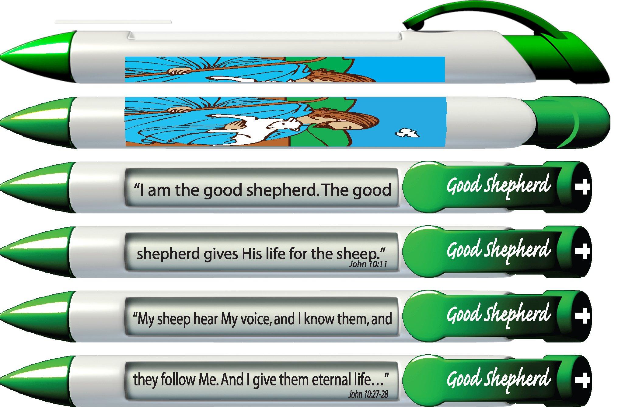 6 x Greeting Pen Good Shepherd Scripture Pens, Scripture