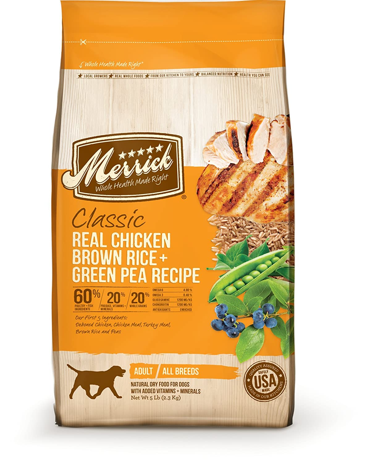 Amazon merrick classic real chicken brown rice and green pea amazon merrick classic real chicken brown rice and green pea dog food 5 pound dry pet food pet supplies forumfinder Image collections