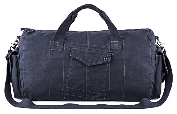 Gootium Canvas Duffel Bag - Vintage Travel Tote Weekend Holdall Sports Gym  Bag e7499e39588ae