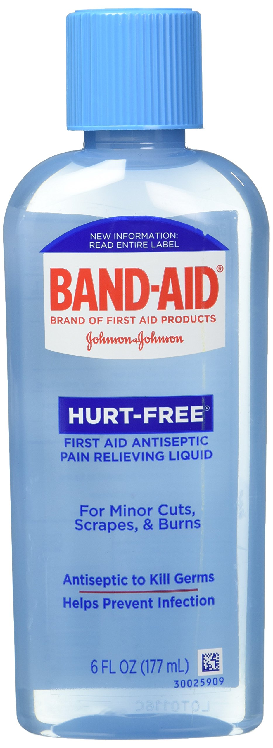 BandAid Brand First Aid HurtFree Antiseptic Wash 6 Ounce (Pack of 2)