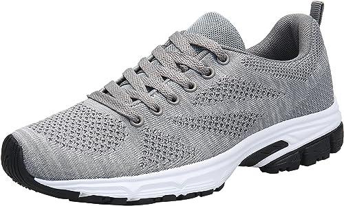 DENGBOSN XZ898A - Zapatillas de Running para Mujer, Color Gris ...