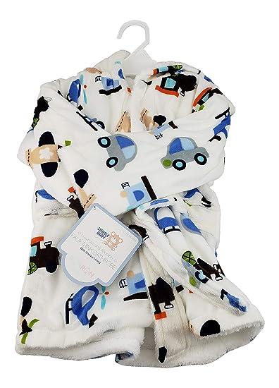 19a1d73e6a Amazon.com   Faux Mink Soft Hooded Bathrobe Toddler Sherpa Lining Boys  Girls (Boys)   Baby