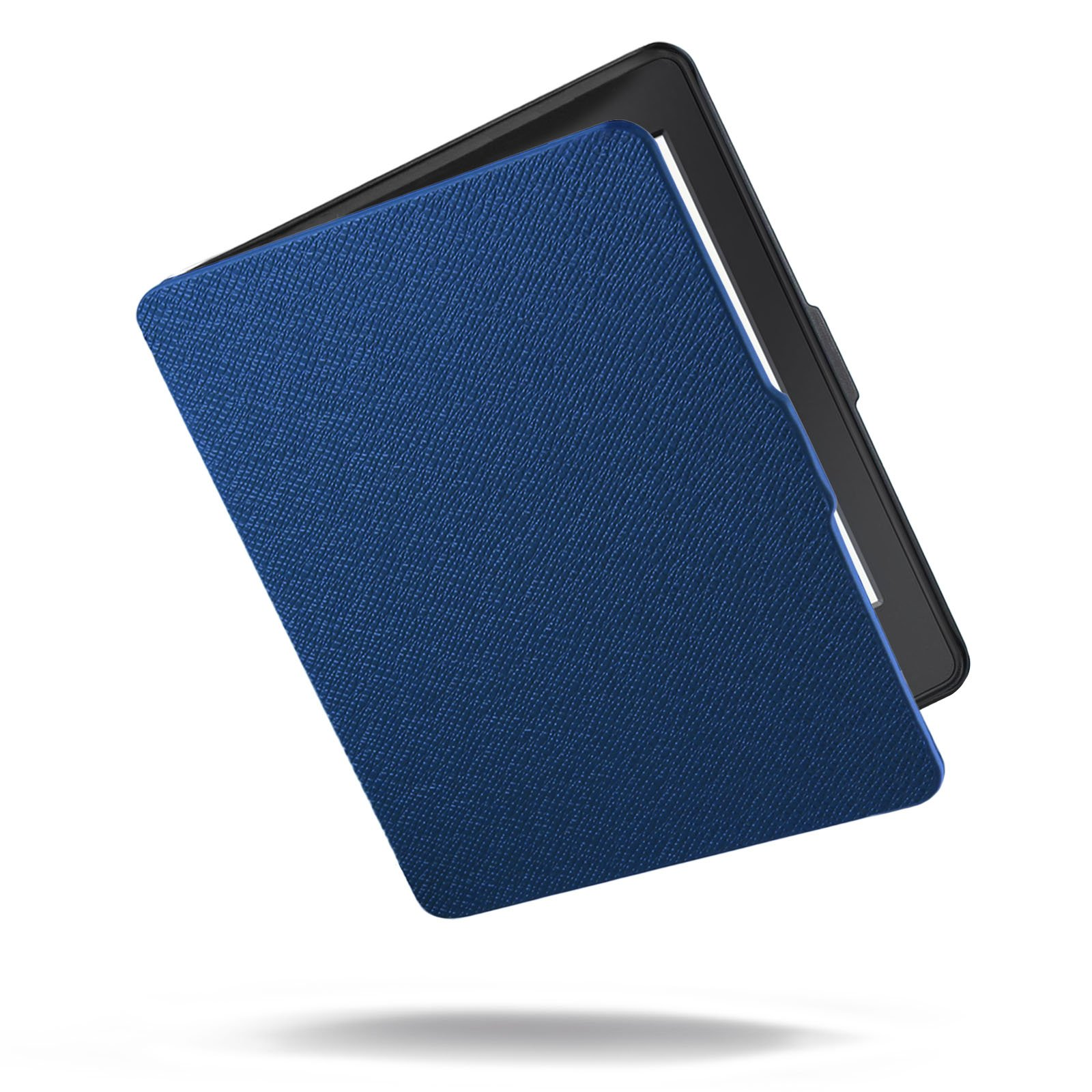 Kindle Paperwhite Case - Infiland Ultra Lightweight Shell Smart Cover for All-New Amazon Kindle Paperwhite (Fits All versions: 2012, 2013, 2014 and 2015 New 300 PPI)- Navy