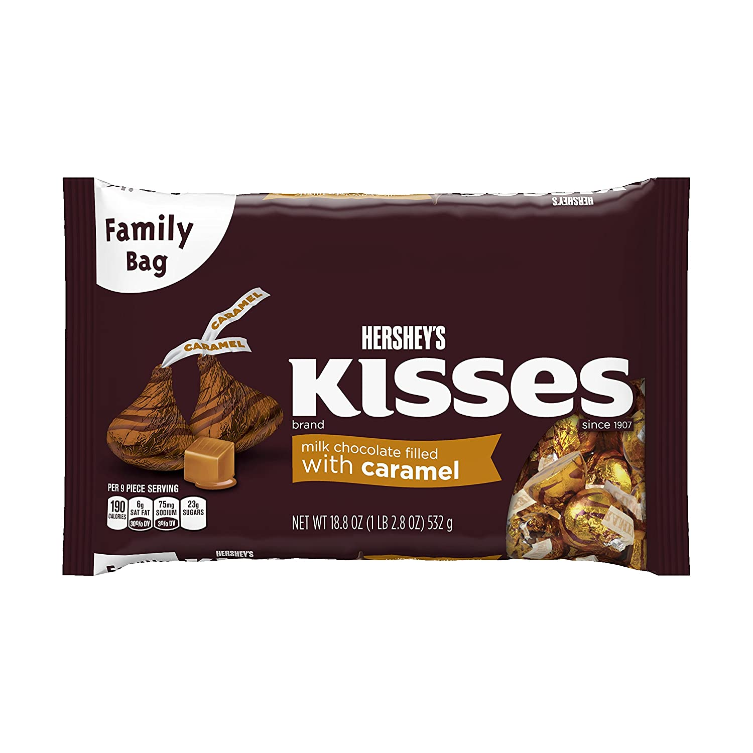 KISSES Milk Chocolates Filled with Caramel (18.8-Ounce Bag)