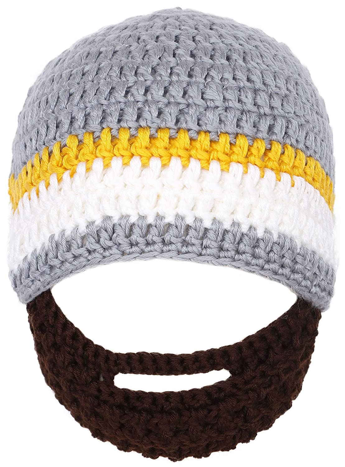Simplicity Toddler's Winter Warm Knit Bearded Face Mask Beanie, Gery 88-B13090165-01