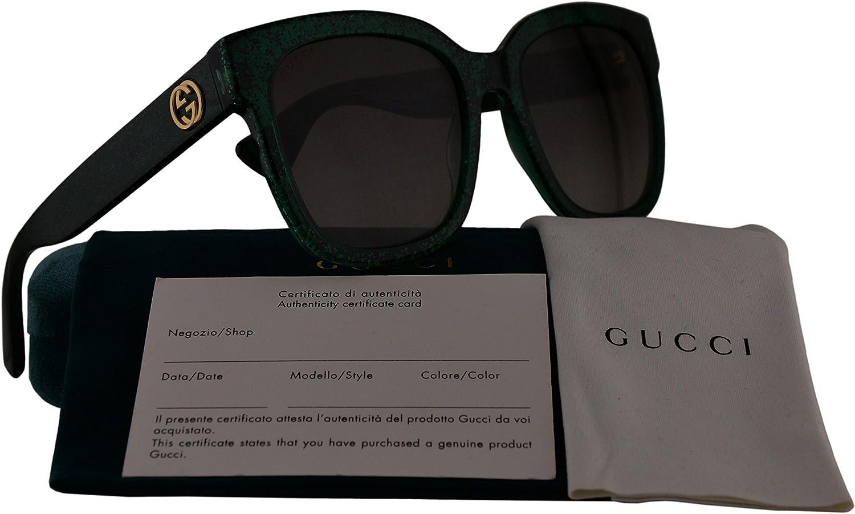 Gucci GG0034S gafas de sol w/Marrón Degradado lente 007 GG 0034S mujer Verde Grande: Amazon.es: Ropa y accesorios