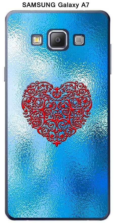 Onozo Cover Samsung Galaxy A7 Design Sfondo Blu Cuore Rosso Amazon