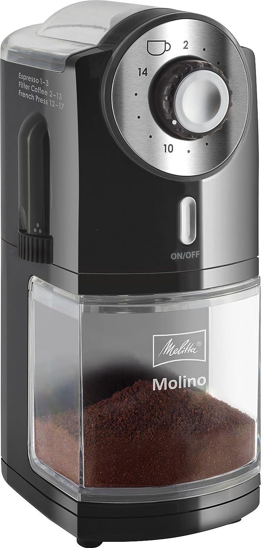 Melitta  Molino Molinillo de café eléctrico W Disco plano Negro