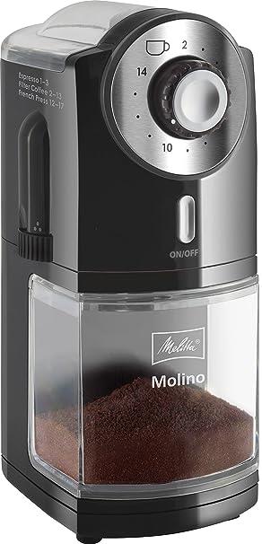 Melitta Molinillo de café eléctrico, Molino, Disco plano, Negro, 1019-02: Amazon.es: Hogar