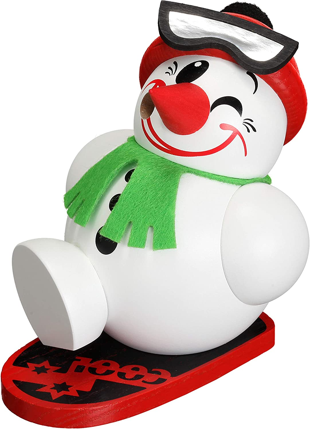 Seiffener Volkskunst German New mail order Incense with low-pricing Smoker Cool-Man Snowboa