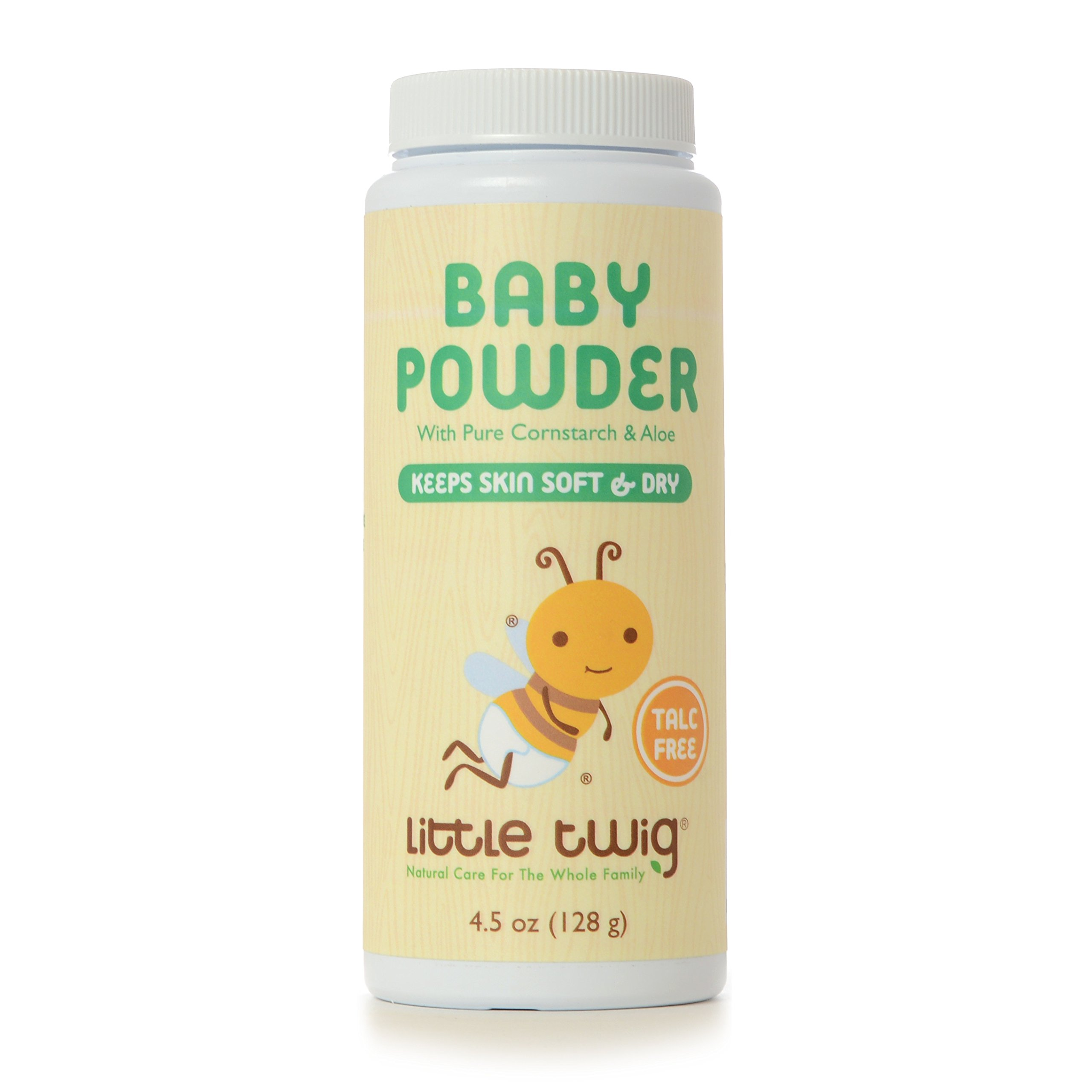 Little Twig All Natural Baby Powder, Unscented, 4.5 Fluid Oz by Little Twig