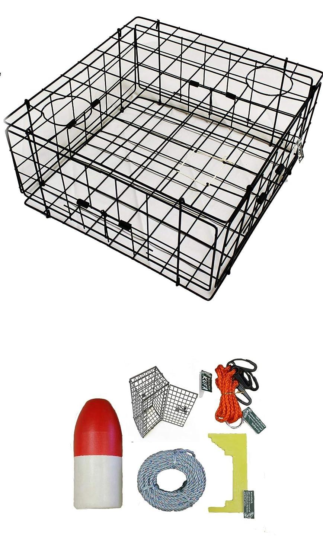 S60+CEC1 100 Lead core Sinking line,Clipper,Harness,Bait Bag /& 11 Float KUFA Vinyl Coated Crab Trap /& Accessory kit