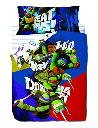 Amazon.com: Ninja Turtles DUVET COVER SET, Bed 90 cms.: Home ...
