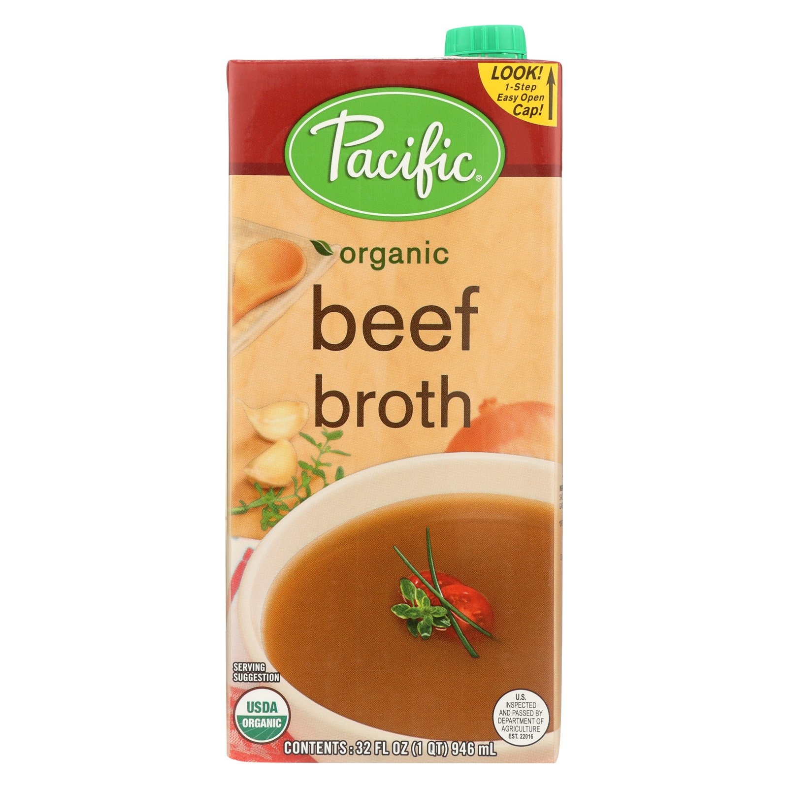 Pacific Natural Foods Beef Broth - Case of 12 - 32 Fl oz. by Pacific Natural Foods