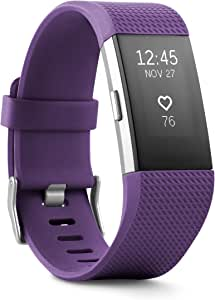 Fitbit Charge 2 Health and Fitness Tracker Classic Accessory Band, Large - Plum