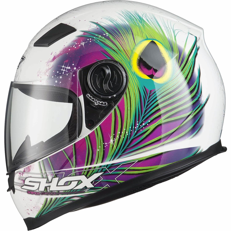 Shox Sniper Paon Casque de Moto