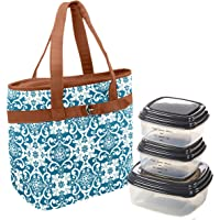 Fit & Fresh Newberry Insulated Lunch Bag Set with Reusable Container Set (Multiple Colors)