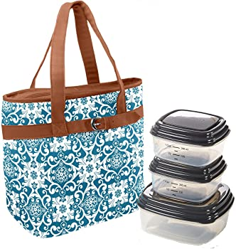 Fit & Fresh Newberry Insulated Lunch Bag Set w/Containers