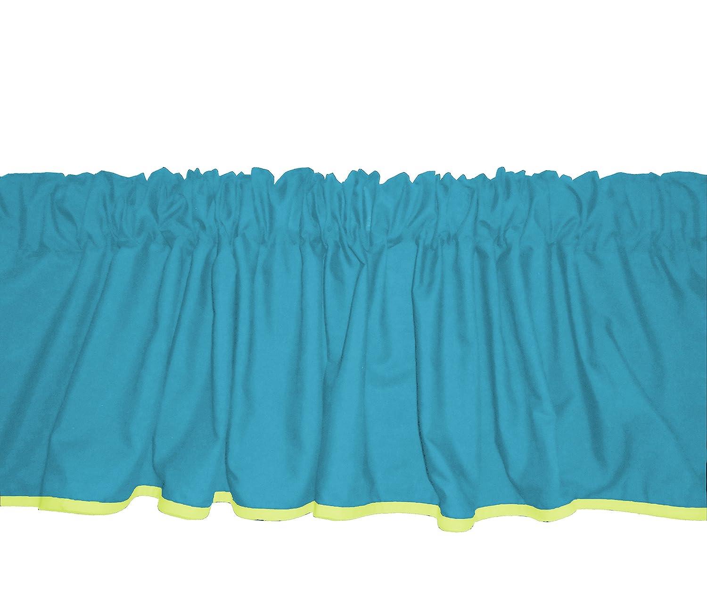 Baby Doll Bedding Solid Two tone Window Valance Aqua//Yellow 500val-aqua//yellow