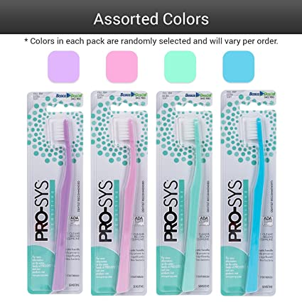 Cepillo de dientes PRO-SYS Extra Soft con cerdas DuPont para encías extra sensibles,