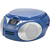 Magnavox MD6924-BL Portable Top Loading CD Boombox with AM/FM Stereo Radio in Blue   CD-R/CD-RW Compatible   LED Display   AU