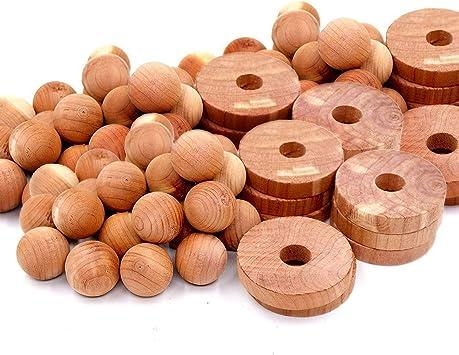 40pcs Moth Balls Pest Repellent Aromatic Cedar Blocks for Clothes Closet Storage