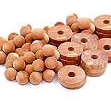 Cedar Home Cedar Blocks for Clothes Storage | Cedar Balls & Cedar Rings | Closet Freshener | Clothes Protection & Mustiness P