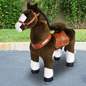 Pony Cycle® Shop Original Amadeus caballo marrón claro, Pony sobre ruedas fahrendes caballo