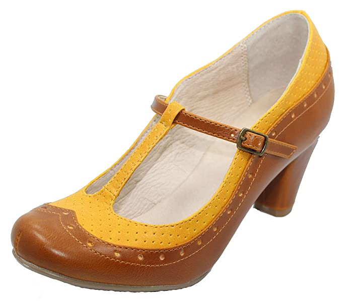 Shop Pin Up Shoes Marcy Oxford Heels $59.90 AT vintagedancer.com