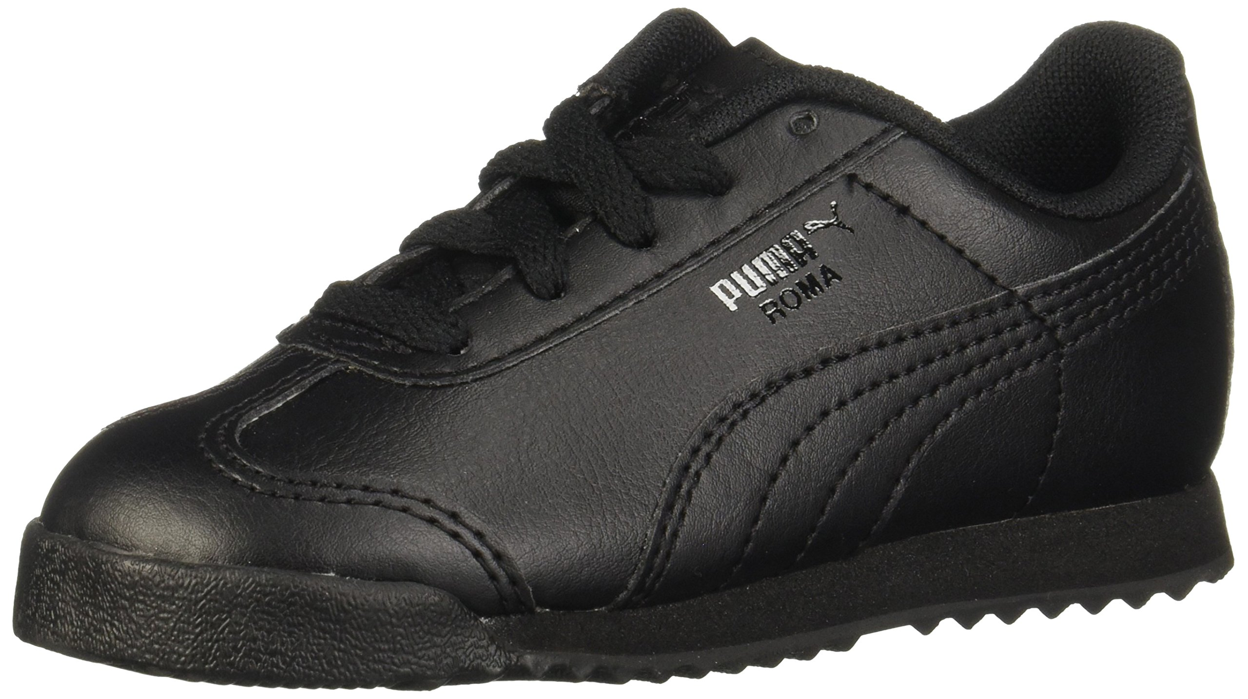 PUMA Roma Basic Kids Sneaker (Toddler/Little Kid/Big Kid), Black/Black, 9 M US Toddler