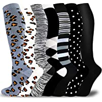 Medical Copper Compression Socks for Men & Women Circulation 20-30mmHg-Graduated Supports Socks for Soccer Running…