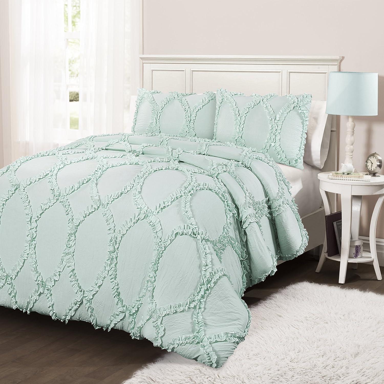 Comforters Sets Home Aqua Full Queen Lush Decor Avon 3 Piece Comforter Set