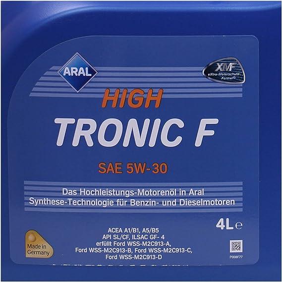 4 L Liter Aral Hightronic F 5w 30 Motoröl Inkl Ölwechselanhänger Auto
