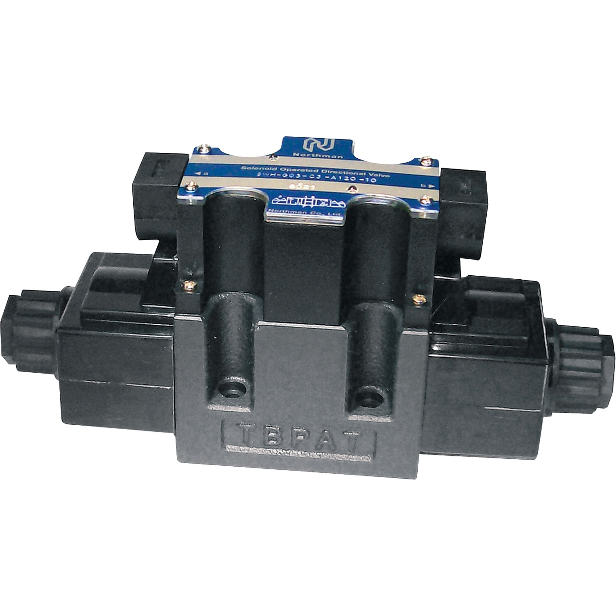 Northman Fluid Power Hydraulic Directional Control Valve - 19.8 GPM, 4500 PSI, 3-Position, Double Solenoid, Tandem Center Spool, 120 Volt AC Solenoids, Model# SWH-G03-C6-A120-10