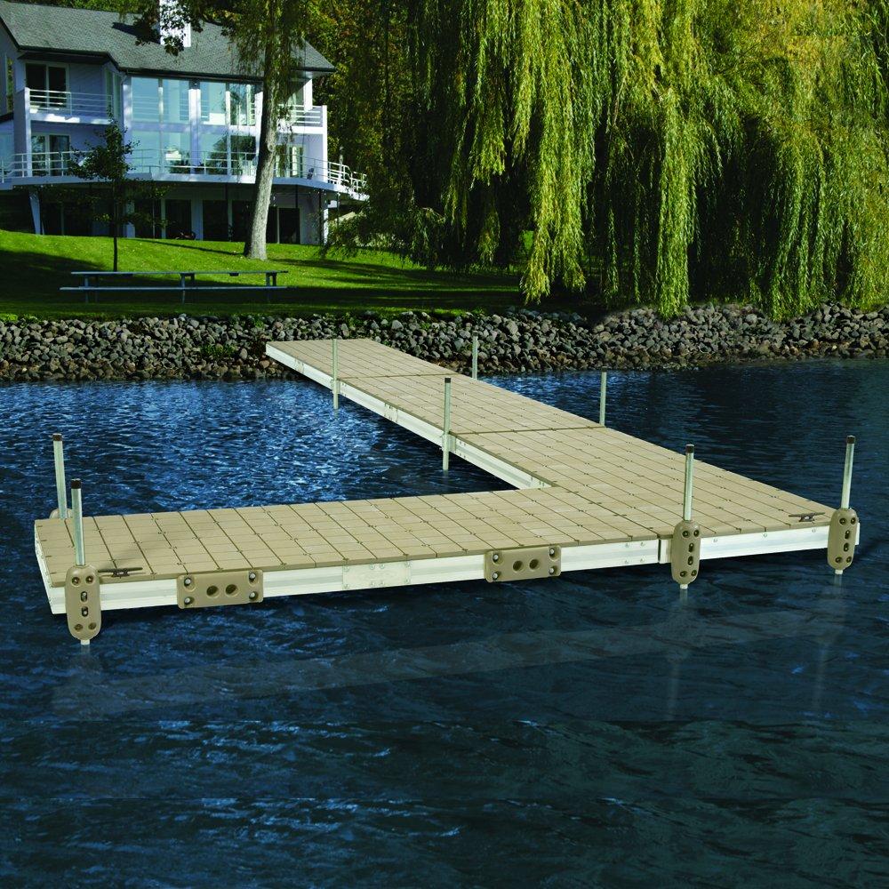 Taylor 413889 Dock Pro Commercial P Shaped Dock Edging Lg Wht 10-Feet Str