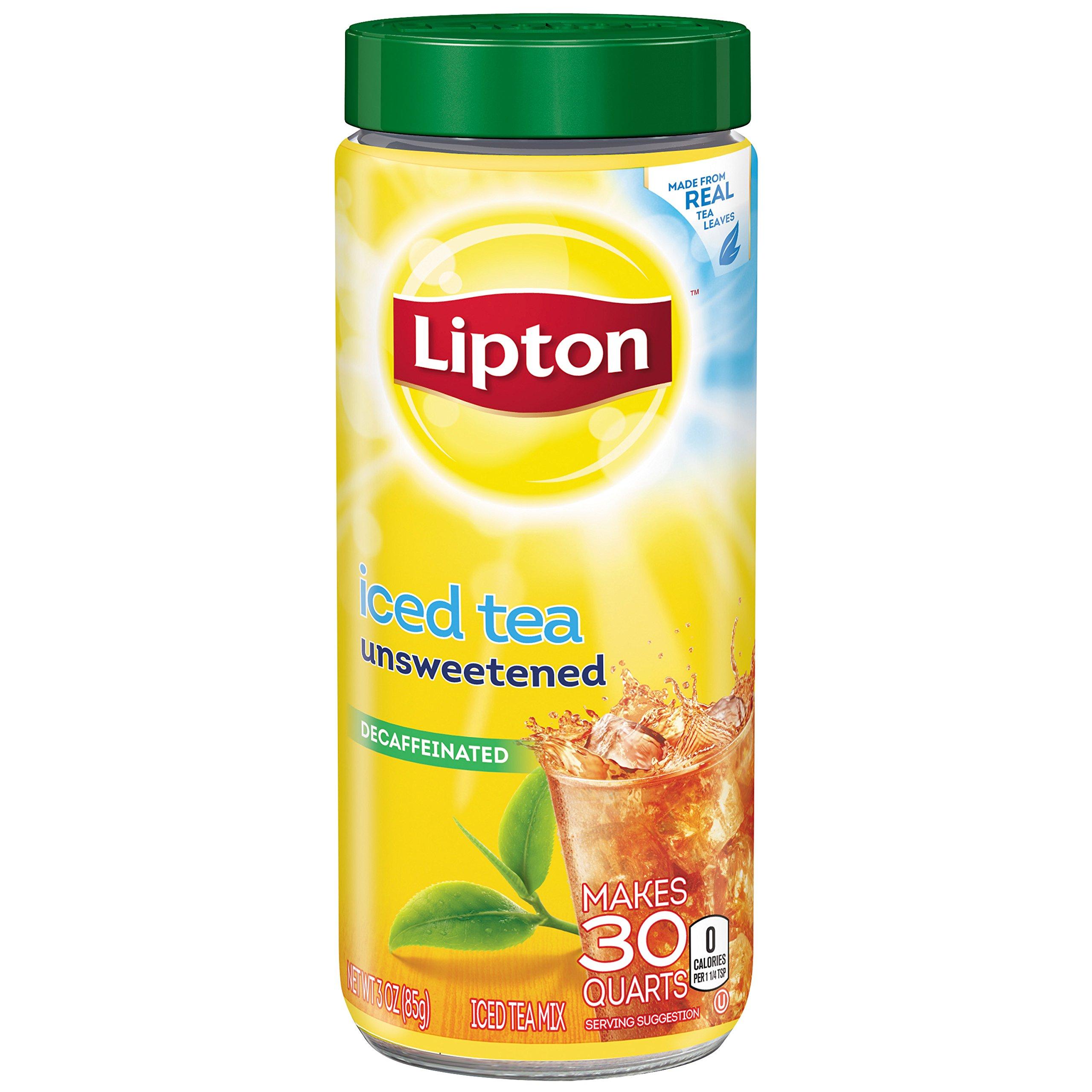 Lipton Iced Tea Mix Decaffeinated Unsweetened 30 Qt Pack