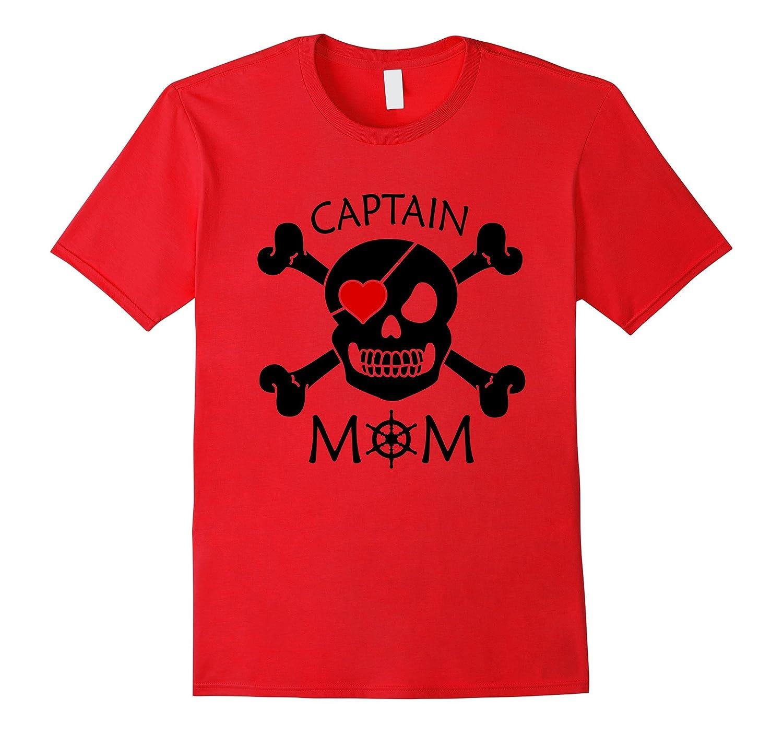 Captain Mom Funny Pirate Theme T-Shirt Fun Halloween Costume-Art