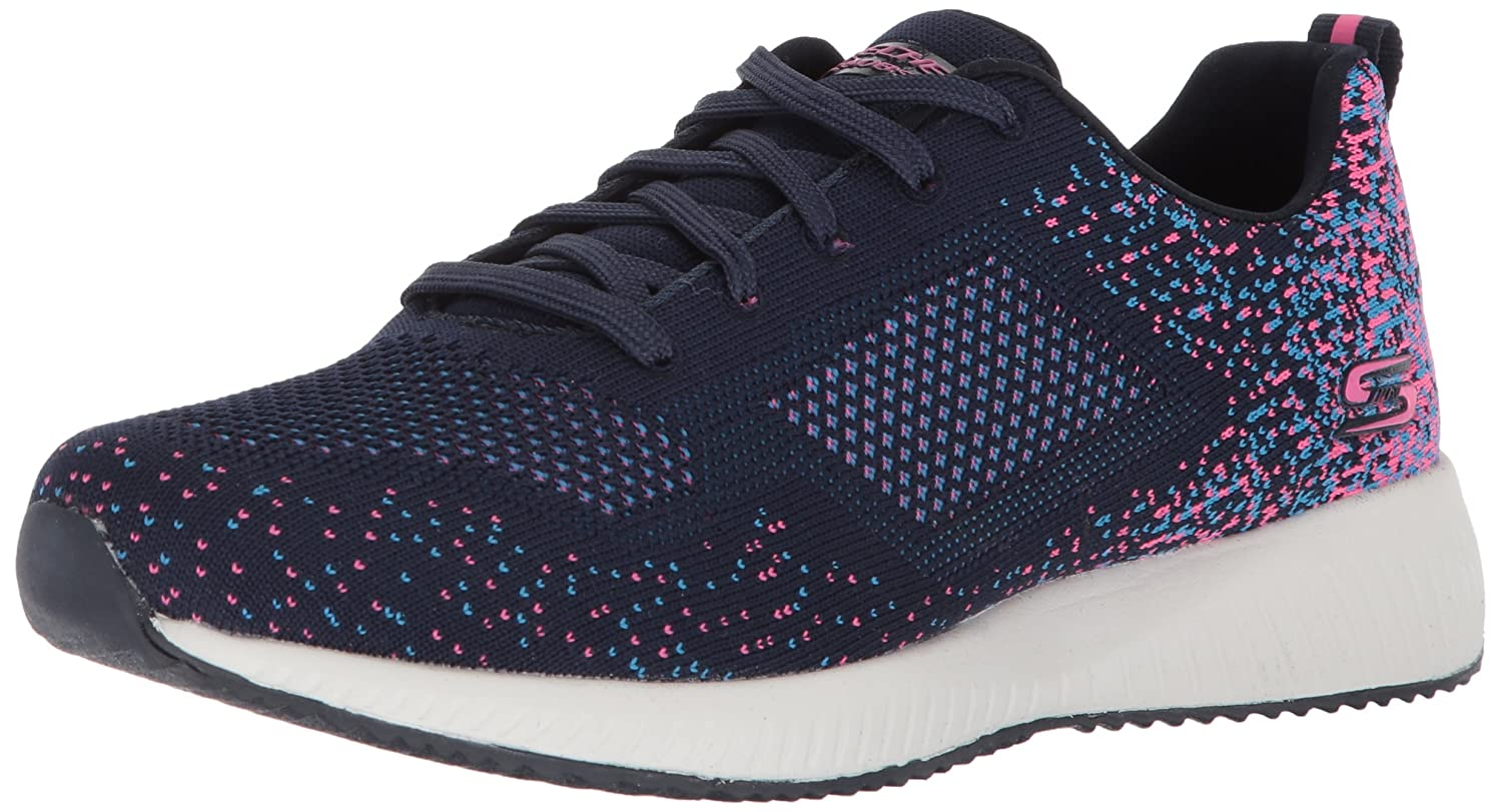 Skechers BOBS from Women's Bobs Squad-Diamond Quarter Sneaker B074JPTY99 8 M US|Navy Pink